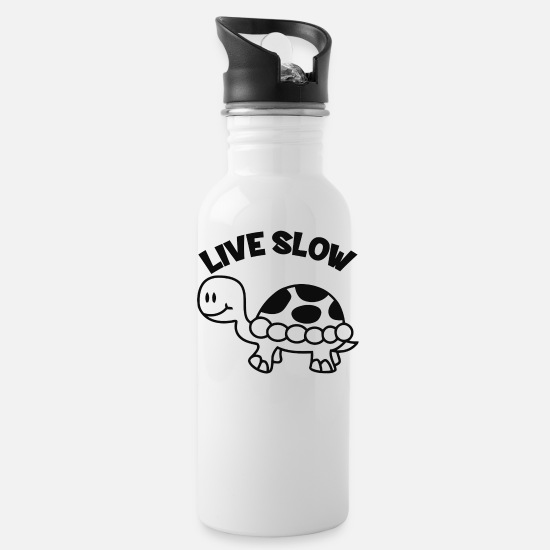 Liverpool Mugs & Drinkware - Live Slow - Water Bottle white