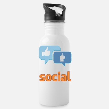 Social social - Water Bottle