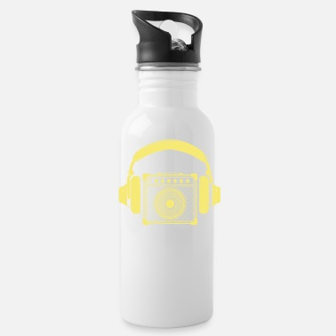 Amplifier Amplifier with Headphones Music Design - Water Bottle