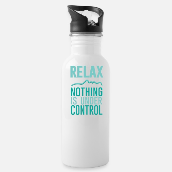 Love Mugs & Drinkware - Relax - Water Bottle white