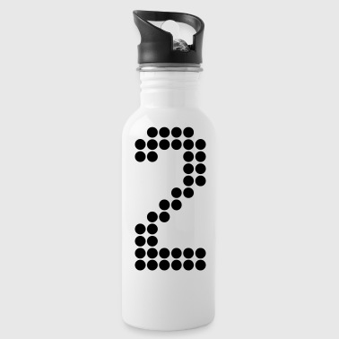 2, Numbers, Football Numbers, Jersey Numbers - Water Bottle