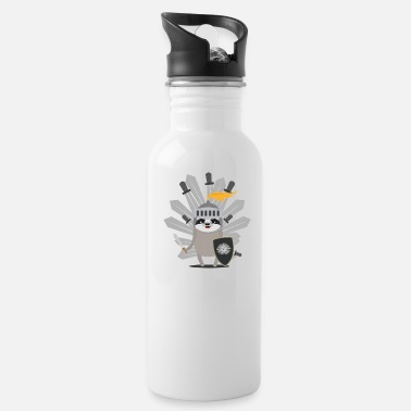 Knights Medieval Sloth King with swords - Water Bottle
