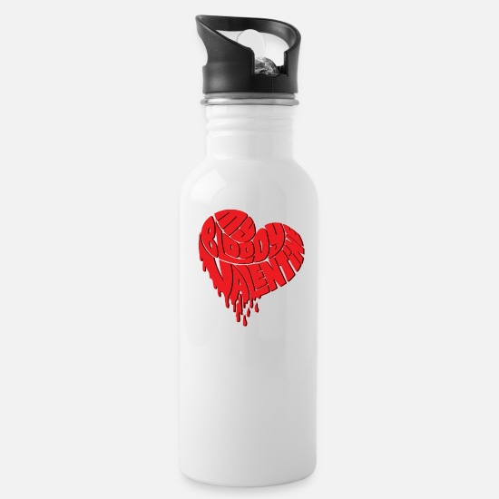 Mother's Day Mugs & Drinkware - My Bloody Valentine Day - Water Bottle white