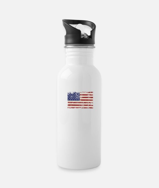 Army Mugs & Cups - jesus is my savior Trump is my president - Water Bottle white
