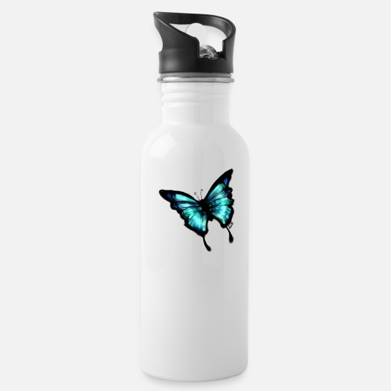 Nature Mugs & Drinkware - Bigger Butterfly - Water Bottle white