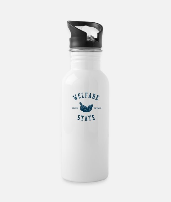 Obama Mugs & Cups - Welfare State - Water Bottle white
