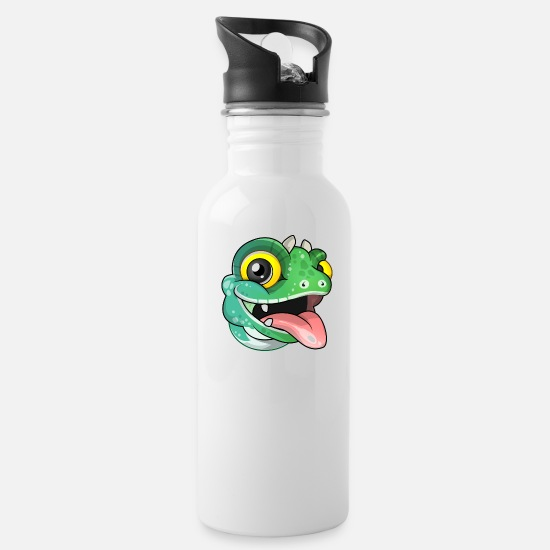 Kids Mugs & Drinkware - Alasdair lizard design - Water Bottle white
