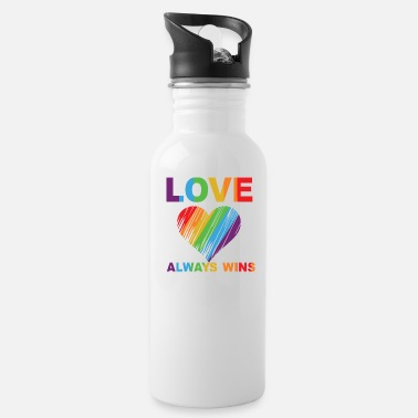 Surname love always wins - Water Bottle