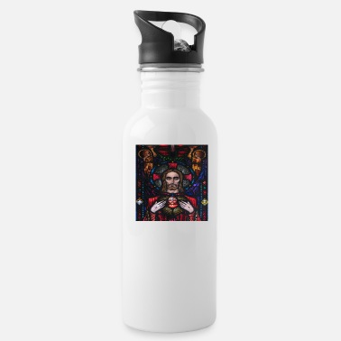 Sacred Heart Of Jesus Jesus Sacred Heart Stained Glass - Water Bottle