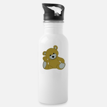 Stuffed Animal Teddy, Teddy Bear, stuffed animal - Water Bottle