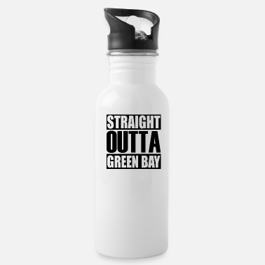 Greenbay Latest Design tagged as a Straight Outta GreenBay - Water Bottle