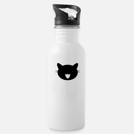 Kitten Mugs & Drinkware - Black cat - Water Bottle white