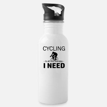 Cycling Cycling is my therapy - Water Bottle