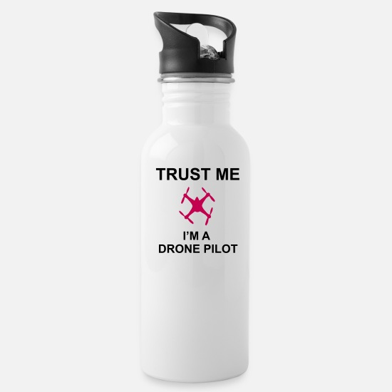 Aviation Mugs & Drinkware - Trust me, I'm a drone pilot - Water Bottle white