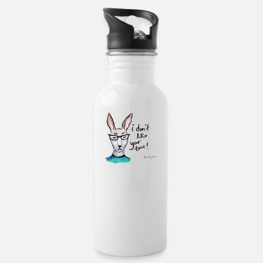 Annoyed Rabbit Don't Like Your Tone - Water Bottle