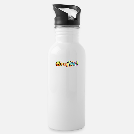Graffiti Mugs & Drinkware - a cool colorful graffiti design sprayer gift - Water Bottle white