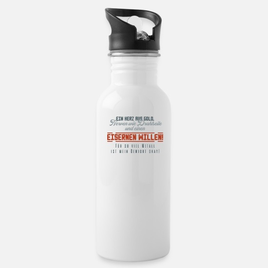 Funny Mugs & Drinkware - Funny Quote - Water Bottle white