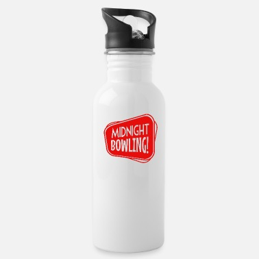 Funny Bowling Midnight Bowling Funny - Water Bottle