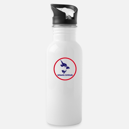 Canadian Mugs & Drinkware - Atlantic Attitude - Water Bottle white