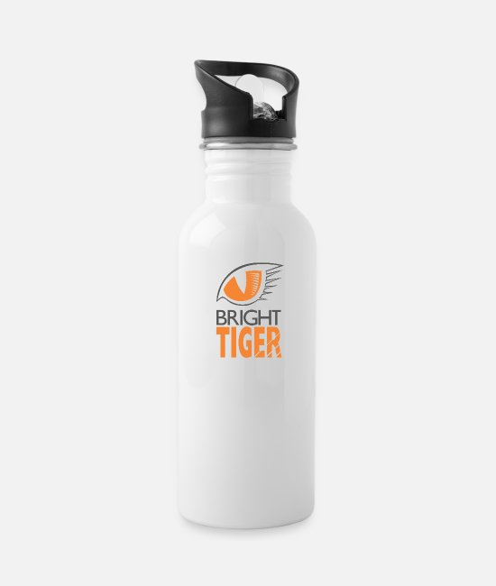 Trade Mugs & Cups - Bright Tiger - Water Bottle white
