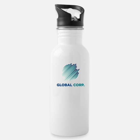 Global Peace Mugs & Drinkware - Global Corp - Water Bottle white
