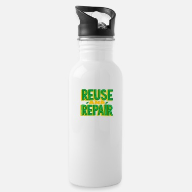Enviromental Reuse and Repair Shirt Earth Day - Water Bottle