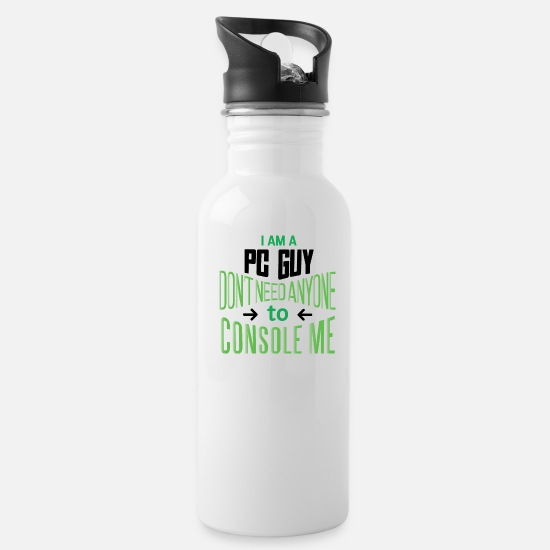 Console Mugs & Drinkware - PC and consoles gaming saying design. - Water Bottle white