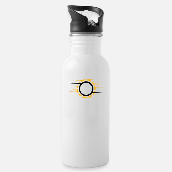 Magic Mugs & Drinkware - fair and wind circle show event - Water Bottle white