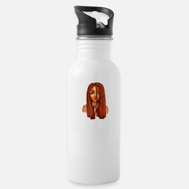 Teen long braids princess - Water Bottle