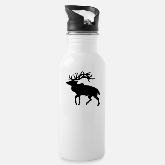 Stag Mugs & Drinkware - Elk - Water Bottle white