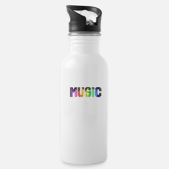 Music Is Life Mugs & Drinkware - MUSIC - Water Bottle white