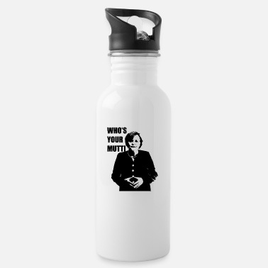 Chancellor Who's Your Mutti Angela Merkel chancellor politics - Water Bottle
