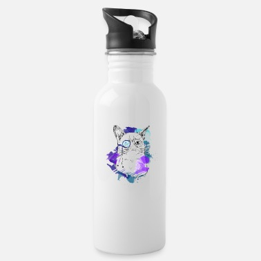 Cat smart. Perfect gift idea for boss, - Water Bottle