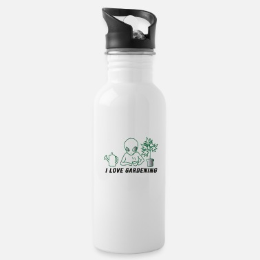 Greenhouse gardener farmer florist garden center paradise - Water Bottle