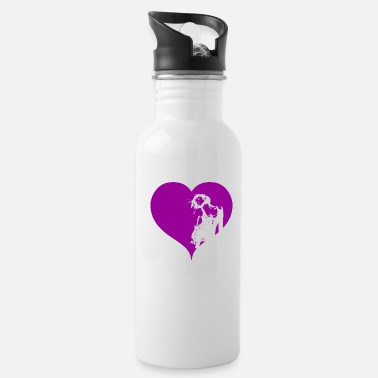 Gogo Gogo Dancer Heart Purple Gift - Water Bottle
