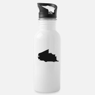 Vector Plano Texas city map black illustration silhouette - Water Bottle
