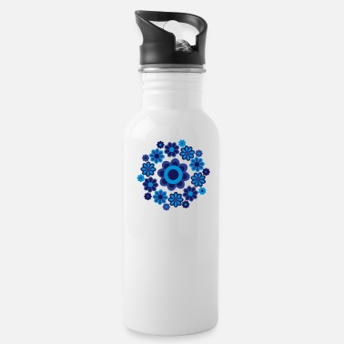 Cheerful Madness Floral Mandala by Cheerful Madness!! - Water Bottle