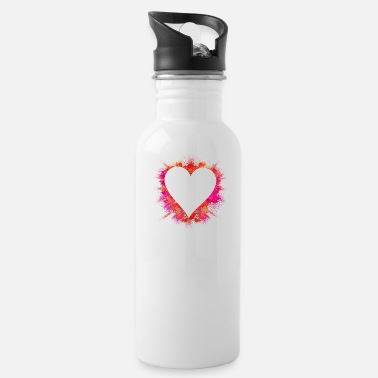 Explosion color intensive explosion - heart with red powder - Water Bottle