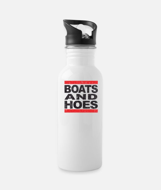Rap Mugs & Cups - Boats & Hoes - Water Bottle white