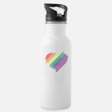 Love Heart Love is love Heart - Water Bottle