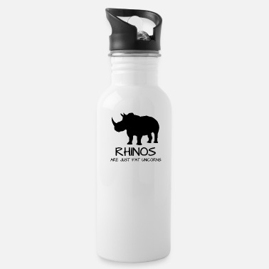 Rhinoceros Rhinos are just fat unicorns - Unicorn - Fairy - Water Bottle