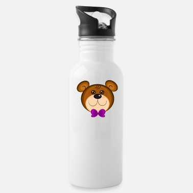 bear face bea - Water Bottle