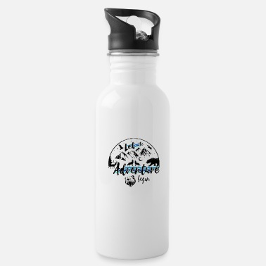 let the adventure begin wild nature camping trip - Water Bottle