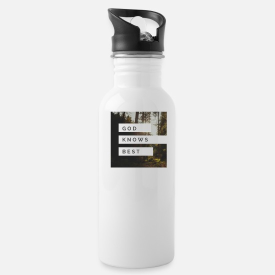 God Mugs & Drinkware - GOD knows best - Water Bottle white