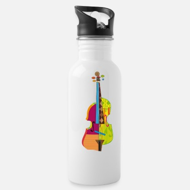 Abstract A colorful violin - Water Bottle