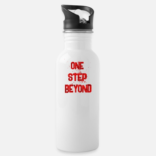 Stupid Mugs & Drinkware - one step beyond 2 - Water Bottle white