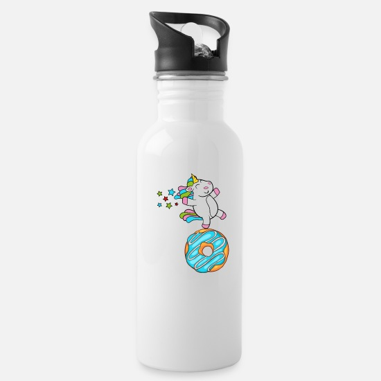 Funny Cool Cute Unicorn Fable Fairy Tale Story Water Bottle - white