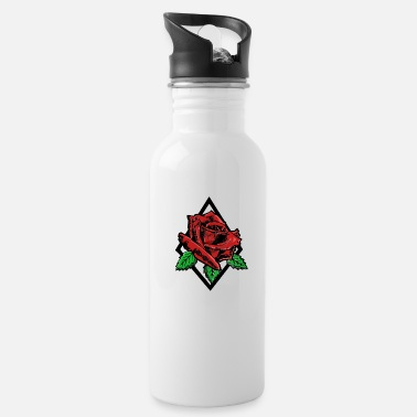 Rose Rose Tattoo Rose Big Rose - Water Bottle