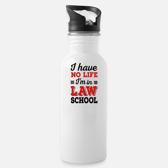 Back To School Mugs & Drinkware - law school - Water Bottle white