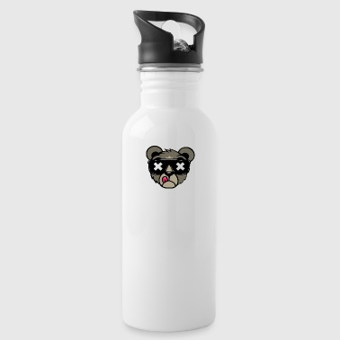 Cat with glasses - Water Bottle